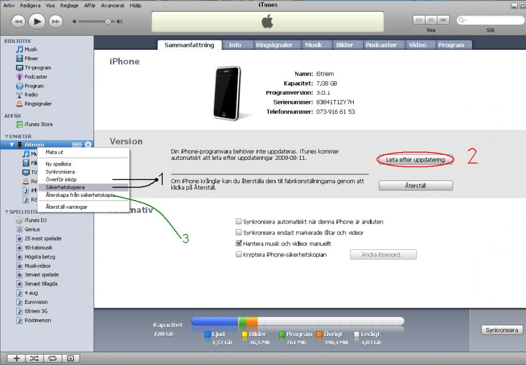 säkerhetskopiera iphone x låstskärm