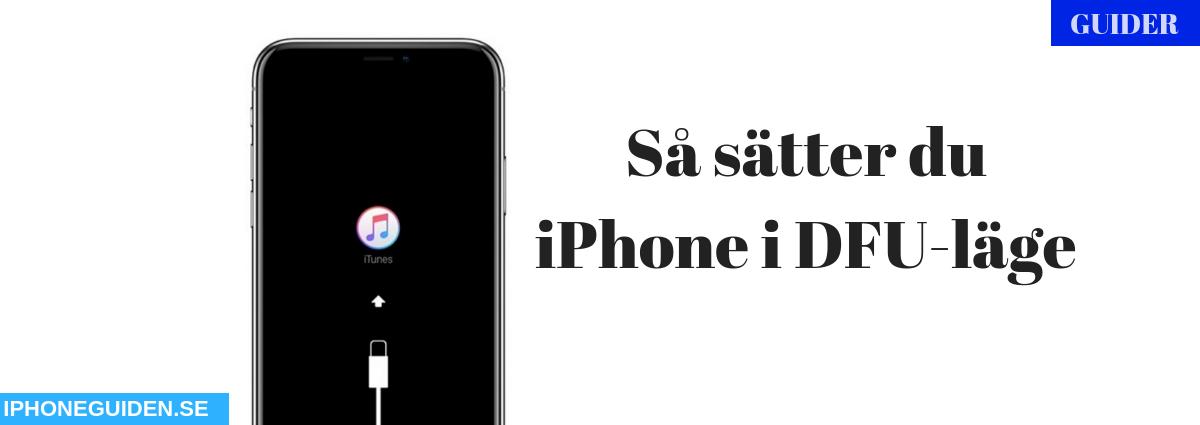 iPhone DFU Läge