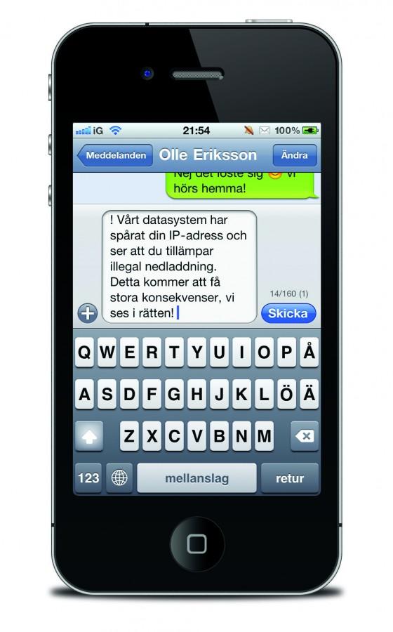 Kan inte skicka sms iphone