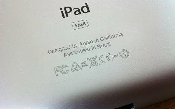 """Designed by Apple in California, Assembled in Brazil ..."