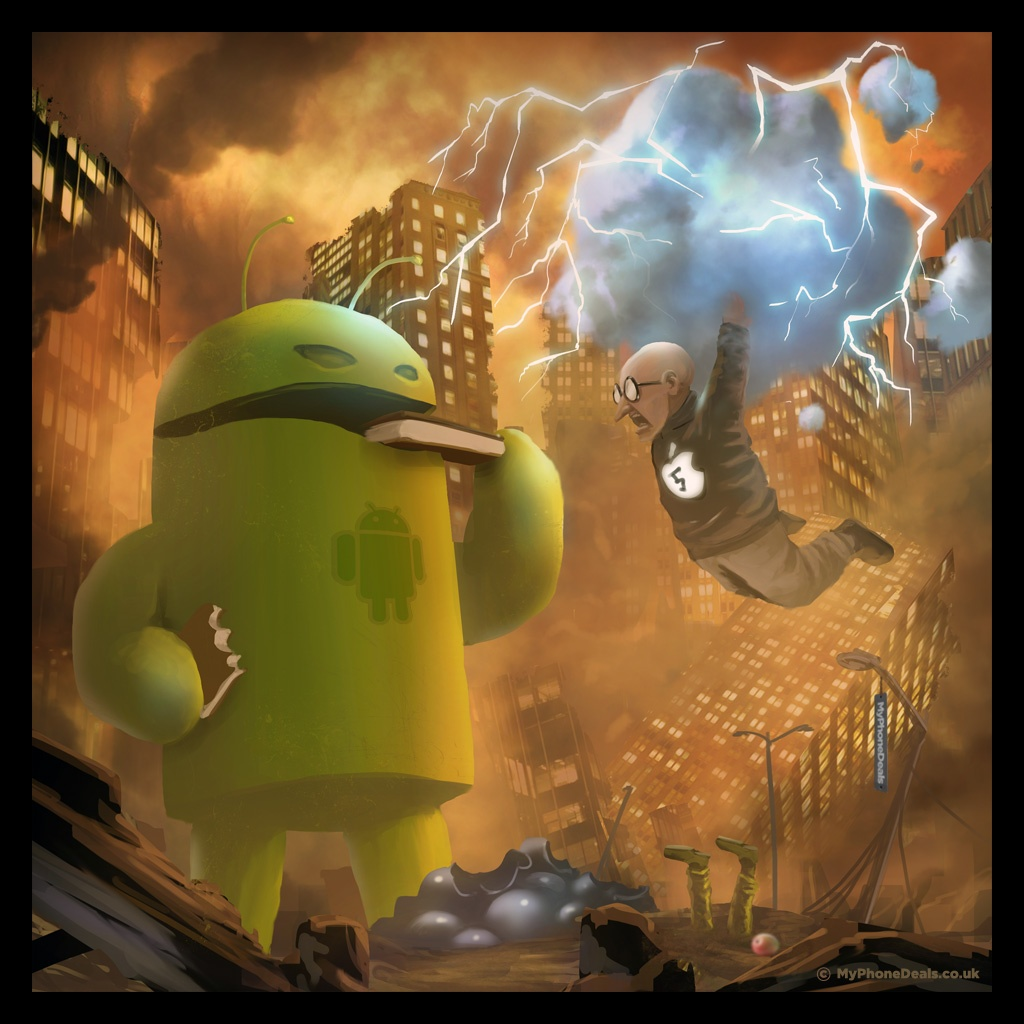 Steve Jobs agression android