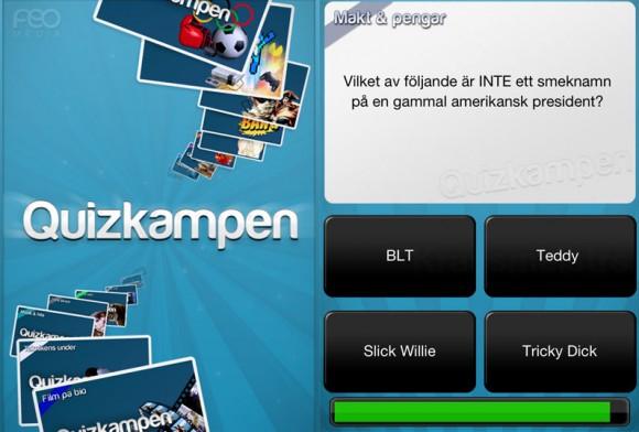 Quizkampen, Spel, iPhone