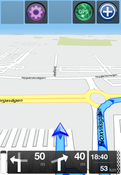 Navigationsvyn på GPS Navigation 2