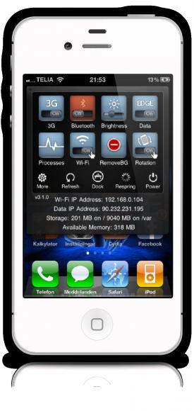 SBsettings för iPhone
