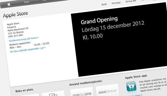 Apple Store öppnar i Malmö, Emporia