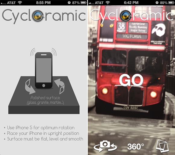 Cycloramic för iPhone