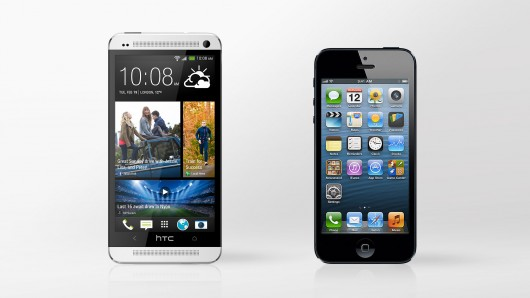 htc one & iphone 5