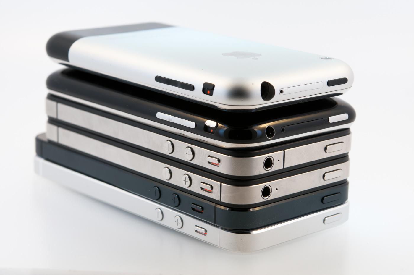 iPhone generationer - 2G till 5