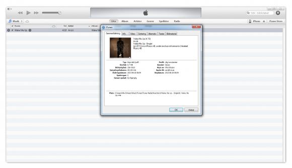 Skapa egna ringsignaler för iPhone i iTunes
