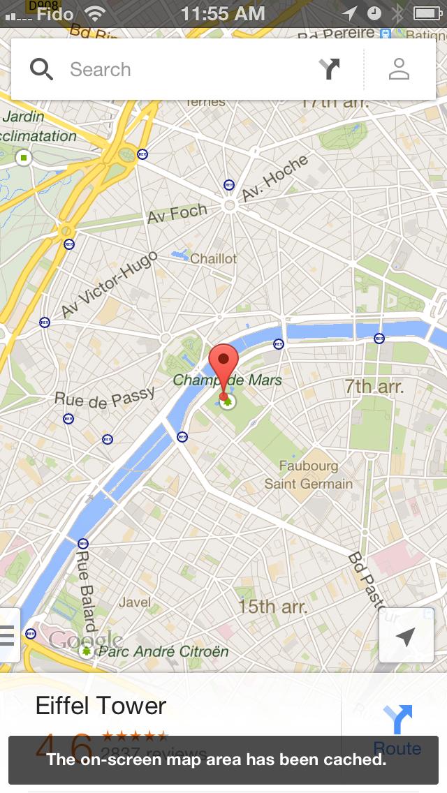 Offline kartor i Google Maps 2.0