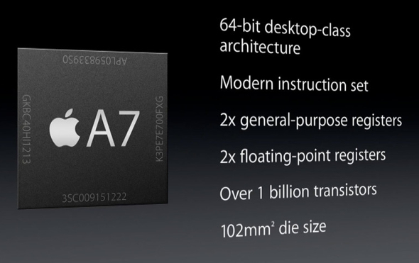 Apples A7-chip imponerar