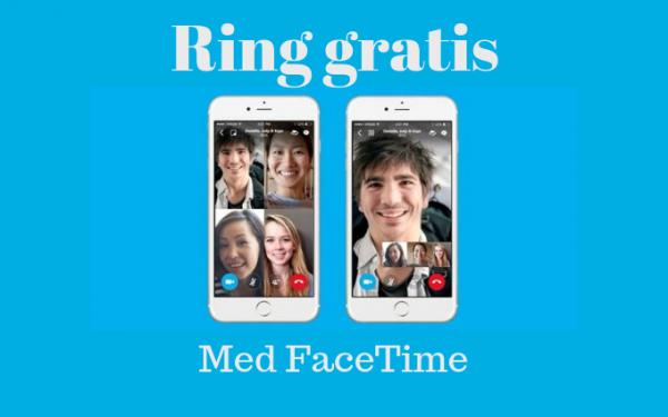 facetime röstsamtal gratis