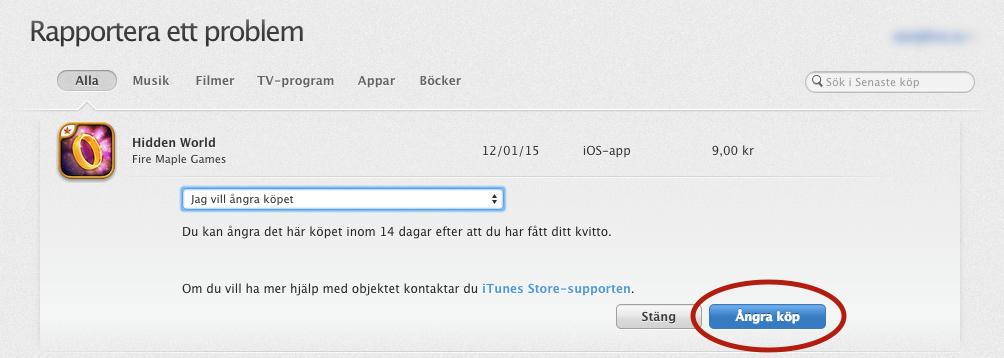 Apple Ångra Itunes