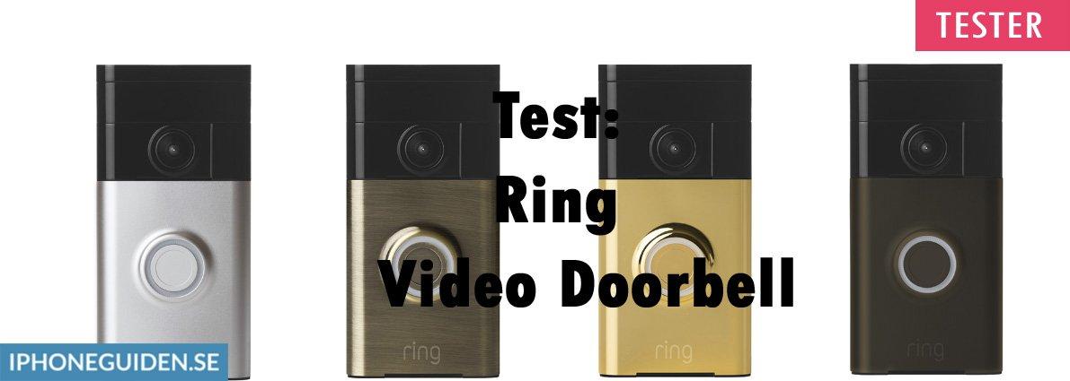 Nykomna Test: Ring Video Doorbell - iPhoneGuiden.se UH-38