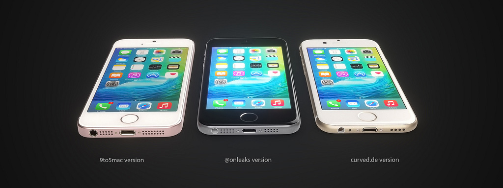 Tre koncept för iPhone SE