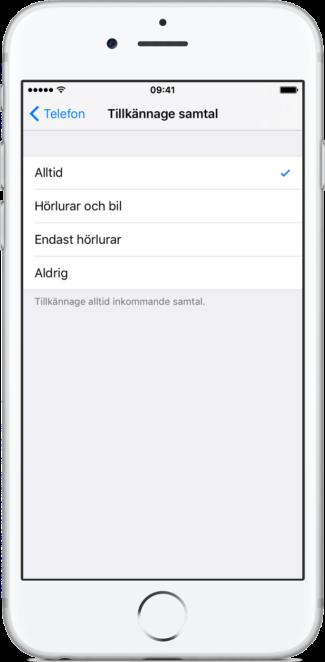 Siri säger vem som ringer
