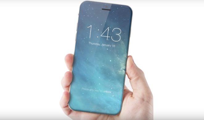 Konceptbild på en iPhone utan hemknapp.
