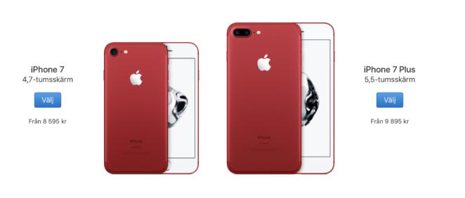 Röd iPhone 7